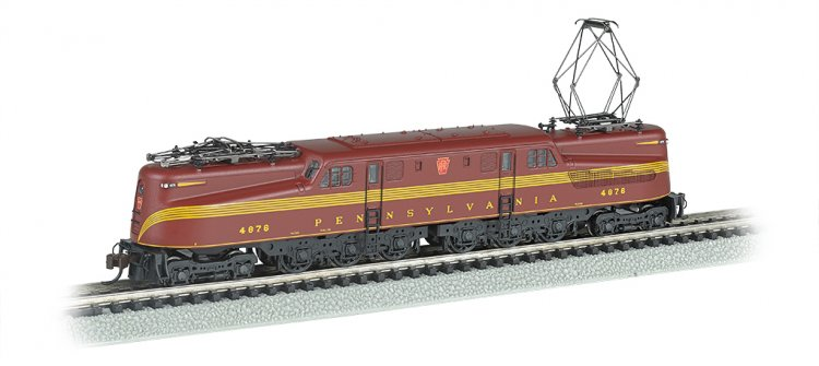 PRR GG-1 #4876 – Tuscan Red 5 Stripe DCC Ready (N Scale) - Click Image to Close