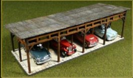 Laser-Cut Car Shed Kit (HO Scale)