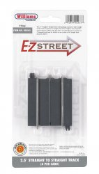 "E-Z Street 2.5"" Straight To Straight Track (4/Card)"