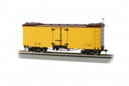 Yellow with Brown Roof and Ends - Reefer - Data Only
