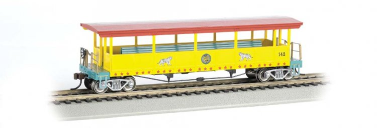 Ringling Bros. & Barnum & Bailey-Open-Sided Excursion Car (HO) - Click Image to Close