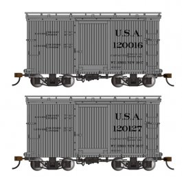 18 ft. Box Car W/ Murphy Roof - USA #120016 & 120127 - (2/box)