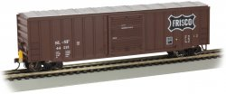 50' Outside Braced Box Car with FRED - Frisco #44213