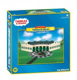 Tidmouth Sheds with Manually Operated Turntable (HO Scale)