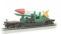 52' Center-Depressed Flat Car - with Missile