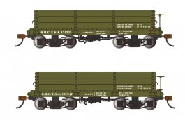 18 ft. Low-Side Gondola - QMC #121235 & #121247 - Green (2/box)