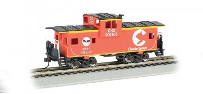 Chessie® - Orange - 36' Wide-Vision Caboose (HO Scale)