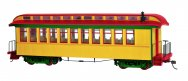 Painted Unlettered Yellow & Red - Coach/Obser. w/ Lighted int.