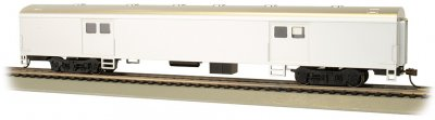 Painted, Unlettered - Aluminum - 72' Smooth-Side Baggage Car
