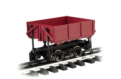 Side-Dump Car - Brown (Large Scale)