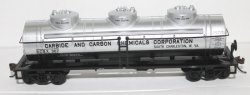 Tank Car- 3 Doom, Carbide & Carbon ( HO Scale )