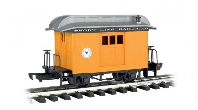 Baggage - Short Line Railroad - Yellow With Silver Roof