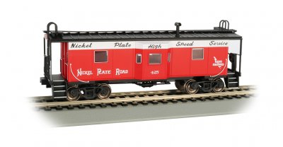 Nickel Plate Road- Bay Window w/ Roof Walk Caboose (HO Scale)