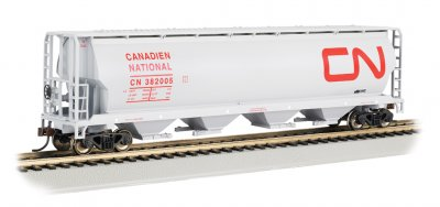 Canadian National - 4 Bay Cylindrical Grain Hopper