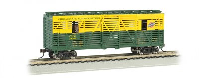 C & NW™ - 40ft Animated Stock Car w/ horses (HO Scale)