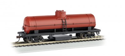Unlettered- Oxide Red - Track Cleaning Car Tank Car (HO Scale)