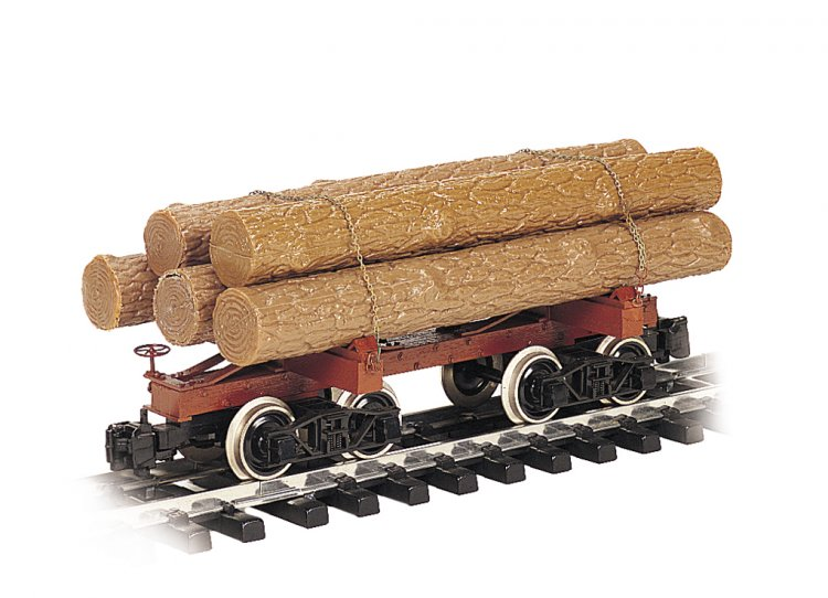 Skeleton Log Car with Logs (Large Scale) - Click Image to Close