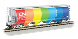 Hopper - 4 Bay Cylindrical Grain -Canadian National Demonstrator