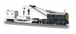 Painted Unlettered - 250-Ton Steam Crane & Boom Tender(HO Scale)