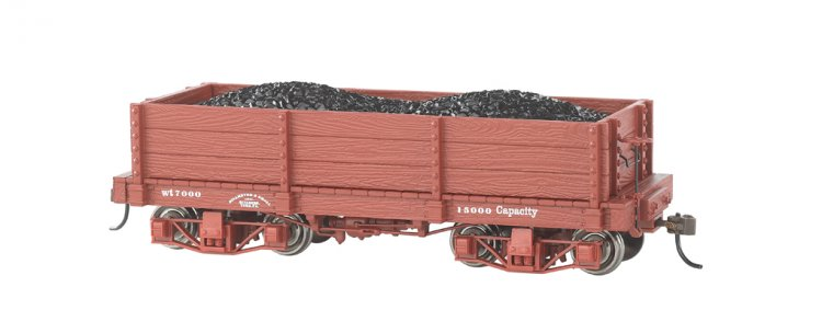 18 ft. Low-Side Gondola - Oxide Red, Data Only (2 per box) - Click Image to Close