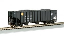 Hopper - Beth Steel 100 Ton 3 Bay - PRR - Yellow Ball #180658