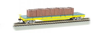 Ringling Bros. & Barnum & Bailey-Flat Car w/ Crates, Yellow (HO)