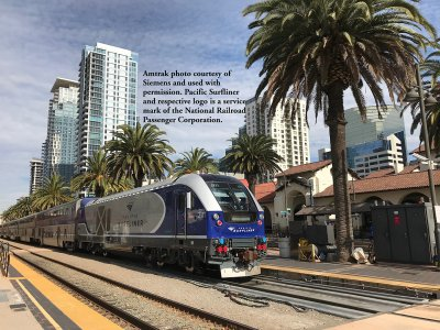 AMTRAK® PACIFIC SURFLINER® #2111 - CHARGER SC-44 - DCC WOWSOUND®