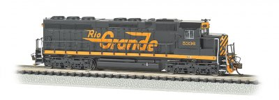 Rio Grande™ #5336 (Large Flying Grande) - SD45 - DCC Sound Value