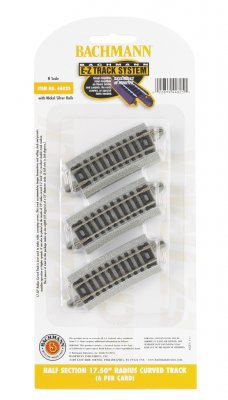 "Half Section 17.50"" Radius Curved Track - N Scale"