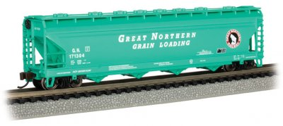 Great Northern #171304 (Green)- ACF 56' 4-Bay Center Flow Hopper