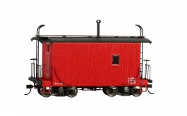 18 ft. Logging Caboose - Caboose Red, Data Only