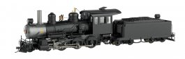 Black, Unlettered W/Steel Cab - 4-6-0 - DCC