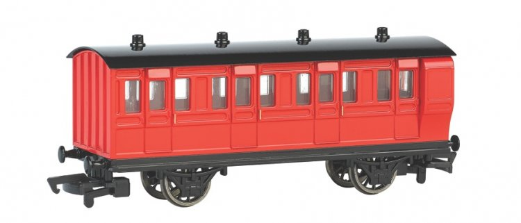 Red Brake Coach (HO Scale) - Click Image to Close