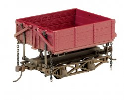 Wood Side-Dump Car - Red Oxide (3 Box) (WF)
