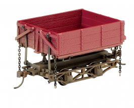 Wood Side-Dump Car - Red Oxide (3 Box)