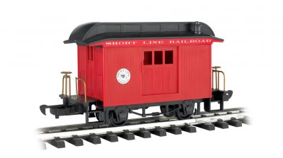 Baggage - Short Line Railroad - Red With Black Roof