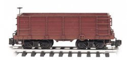 Painted Unlettered - Wood Ore Car (Large Scale)