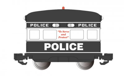 Police with Flashing Roof Light - Eggliner