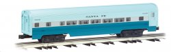 Santa Fe - Blue Goose - 60' Aluminum Streamliners 4 Car Set
