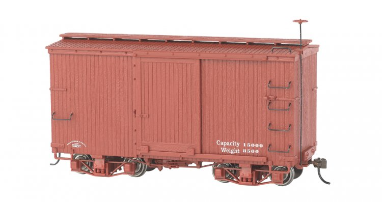 18 ft. Box Car - Oxide Red, Data Only (2 per box) - Click Image to Close