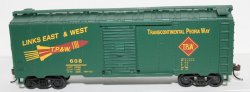 Box Car- Links East & West TPW ( HO Scale )