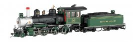 ET&WNC #12 W/Steel Cab (Green W/Painted Trim) - 4-6-0 - DCC
