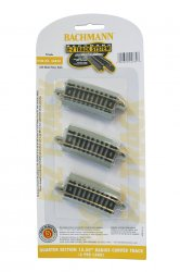 "Quarter Section 15.50"" Radius Curved Track - N Scale"