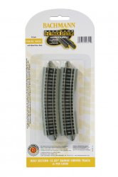 "Half Section 15.50"" Radius Curved Track - N Scale"