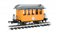 Coach - Short Line Railroad - Yellow With Silver Roof