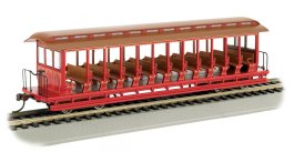 Unlettered Red/Brown - Jackson Sharp Open-Sided Excursion Car