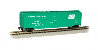 Penn Central #208177 - 50' Plug Door Box Car (HO Scale)