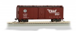 Box Car - 40' - Chief - Santa Fe Map (HO Scale)