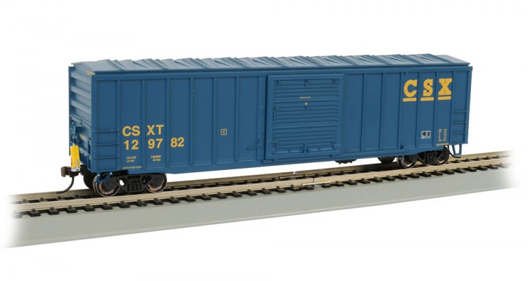 50' Outside Braced Box Car with FRED - CSX® - Click Image to Close