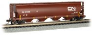 Canadian National (Oxide Red) - 4 Bay Cylindrical Grain Hopper
